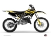 Yamaha 125 YZ Dirt Bike Replica Graphic Kit Yellow
