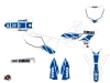 Yamaha 250 YZ Dirt Bike Replica Graphic Kit White Blue