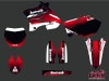 Yamaha 250 YZ Dirt Bike Slider Graphic Kit Red