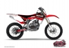 Yamaha 125 YZ Dirt Bike Slider Graphic Kit Red