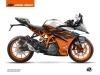 KTM 390 RC Street Bike Spring Graphic Kit White Orange