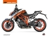 KTM Super Duke 1290 R Street Bike Spring Graphic Kit Black Orange