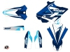 Yamaha 250 YZ Dirt Bike Stage Graphic Kit Blue LIGHT
