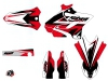 Yamaha 250 YZ Dirt Bike Stage Graphic Kit Black Red LIGHT