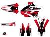 Kit Déco Moto Cross Stage Yamaha 250 YZ Noir Rouge LIGHT