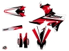 Yamaha 250 WRF Dirt Bike Stage Graphic Kit Black Red LIGHT