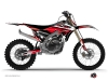 Yamaha 450 YZF Dirt Bike Stage Graphic Kit Black Red