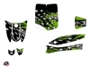 MBK Eco-3 Scooter Stars Graphic Kit Green