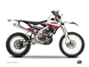 Yamaha 250 WRF Dirt Bike Stripe Graphic Kit Red