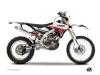 Kit Déco Moto Cross Stripe Yamaha 450 WRF Rouge