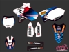 Yamaha 125 YZ Dirt Bike Replica Team 2b Graphic Kit 2012