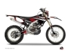 Yamaha 250 WRF Dirt Bike Techno Graphic Kit Red