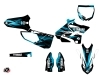 Yamaha 250 YZ Dirt Bike Techno Graphic Kit Blue