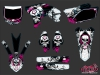 Yamaha 250 YZF Dirt Bike Trash Graphic Kit Black Pink