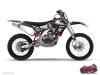 Yamaha 450 YZF Dirt Bike Trash Graphic Kit Black Pink
