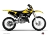 Kit Déco Moto Cross Vintage Yamaha 125 YZ Jaune