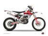 Yamaha 250 WRF Dirt Bike Vintage Graphic Kit Red