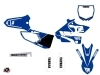 Yamaha 250 YZ Dirt Bike Vintage Graphic Kit Blue