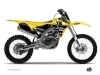 Yamaha 250 YZF Dirt Bike Vintage Graphic Kit Yellow