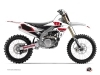 Yamaha 250 YZF Dirt Bike Vintage Graphic Kit Red
