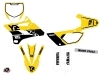 Yamaha 85 YZ Dirt Bike Vintage Graphic Kit Yellow