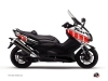 Yamaha TMAX 500 Maxiscooter Vintage Graphic Kit Red