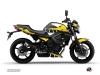 Yamaha XJ6 Street Bike Vintage Graphic Kit Yellow