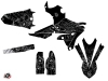 Yamaha 250 WRF Dirt Bike Zombies Dark Graphic Kit Black LIGHT