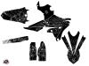 Yamaha 450 WRF Dirt Bike Zombies Dark Graphic Kit Black LIGHT