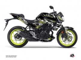 Yamaha MT 03 Street Bike Mission Graphic Kit Black Yellow