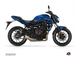 Yamaha MT 07 Street Bike Mission Graphic Kit Blue Black