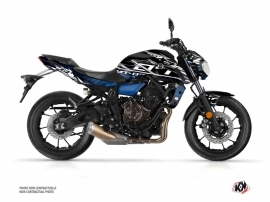 Yamaha MT 07 Street Bike Mission Graphic Kit Black Blue