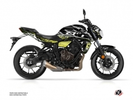 Yamaha MT 07 Street Bike Mission Graphic Kit Black Yellow