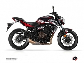 Yamaha MT 07 Street Bike Mission Graphic Kit Black Red