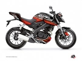 Yamaha MT 125 Street Bike Mission Graphic Kit Black Red
