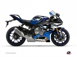 Yamaha R1 Street Bike Mission Graphic Kit Black Blue
