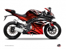 Yamaha R125 Street Bike Mission Graphic Kit Black Red