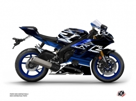 Yamaha R6 Street Bike Mission Graphic Kit Black Blue