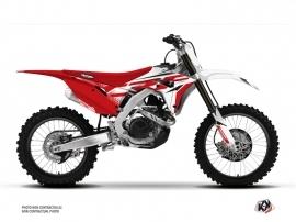Honda 450 CRF Dirt Bike Nasting Graphic Kit White Red