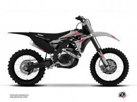 Honda 450 CRF Dirt Bike Nasting Graphic Kit Grey Red