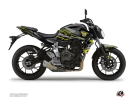 Yamaha MT 07 Street Bike Night Graphic Kit Black Yellow