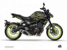 Kit Déco Moto Night Yamaha MT 09 Noir Jaune