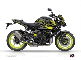 Yamaha MT 10 Street Bike Night Graphic Kit Black Yellow