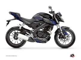 Yamaha MT 125 Street Bike Night Graphic Kit Black Blue