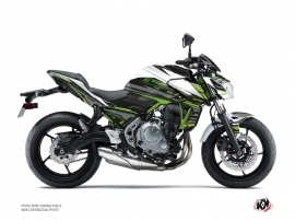 Kawasaki Z 650 Street Bike Night Graphic Kit White Green