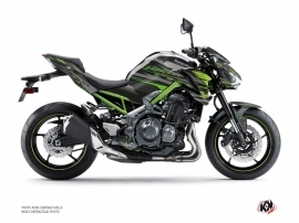 Kawasaki Z 900 Street Bike Night Graphic Kit Black Green