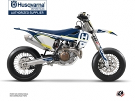 Husqvarna 450 FS Dirt Bike Nova Graphic Kit Blue