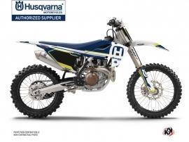 Kit Déco Moto Cross Nova Husqvarna FC 250 Bleu