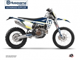 Husqvarna 150 TE Dirt Bike Nova Graphic Kit Blue