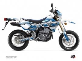 Suzuki DRZ 400 SM Dirt Bike Oblik Graphic Kit White